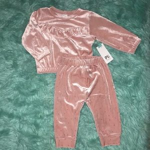 NWT   PL:Baby   12 M   rose gold & gold suit